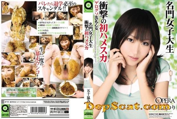 Hamesuka first shock prestigious college student Minori Igarashi - Scat / Japan [DVDRip/2.09 GB]