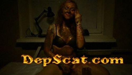 Shit bucket challenge Dirty Face FernandaScat - Poopping, Shitting, Big pile, Scat [FullHD 1080p/380 Mb]