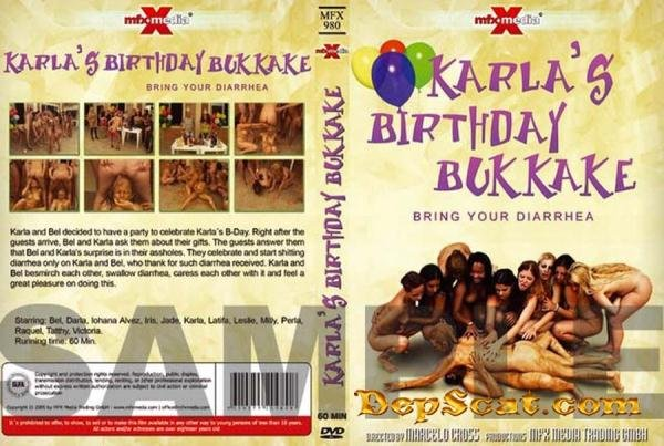 KARLAS BIRTHDAY BUKKAKE BRING YOUR DIARRHEA Nicolettaxxx - Poopping, Shitting, Big pile, Scat [SD/472 MB]