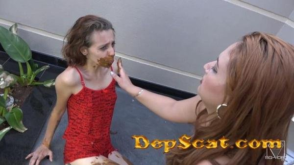 Eat My Shit - The First Time For Sweet Slave Penelope - Domination Scat / Lesbian Scat [FullHD 1080p/1.95 GB]