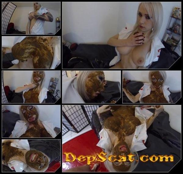 Blonde pooping, licking shit and masturbation pussy FernandaScat - Solo Scat [FullHD 1080p/872 MB]