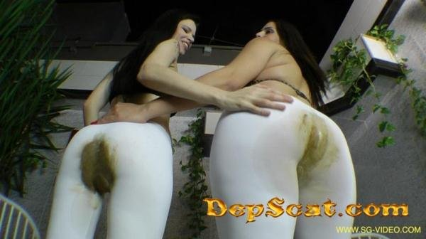 Scat Domination White Scat Pants 2 Domina 1 Slave - Pantyhose / Domination Scat [FullHD 1080p/3.15 GB]