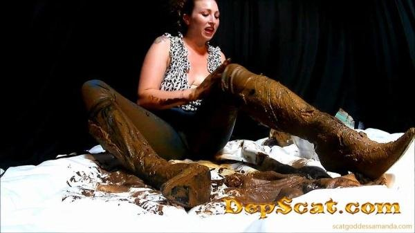 Boot & Messy Jean Smear ScatGoddess - Scat / Poop [HD 720p/603 MB]
