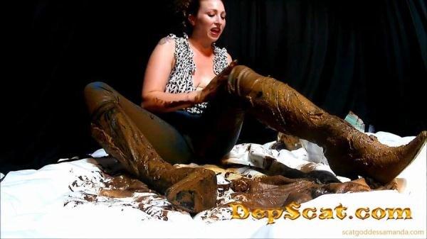 Boot & Messy Jean Smear ScatGoddess - Scat / Poop [HD 720p/603 MB]