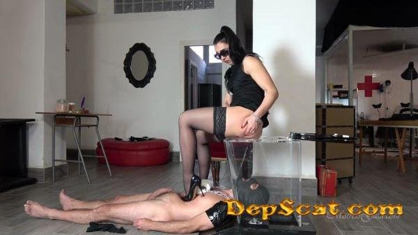 SEE THROUGH TOILET MISTRESS GAIA - Femdom Scat / Shit Eater [HD 720p/45.5 MB]