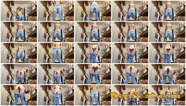 Messy Jeans Slavery EllaGilbert - Panty, Jean Pooping, Solo [HD 720p/432 MB]