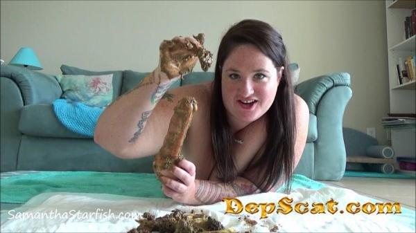 Toilet Slavery Tasks: Masturbate With My Shit Samantha Starfish - Shitting Girls, BBW Scat [FullHD 1080p/990 MB]