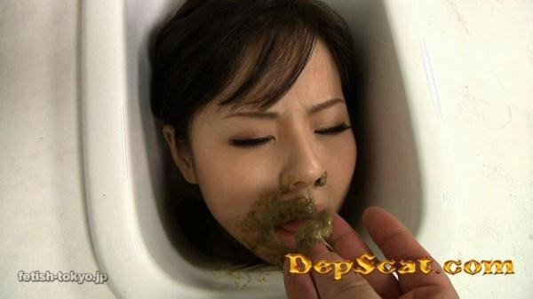 Asian human toilet vid