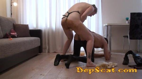 Teaching Fucking With Huge Strapon In Shit Scatlovers - Scat Humiliation, Strapon [FullHD 1080p/471 MB]