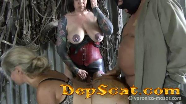 Slut Farm Veronika, Molly - Poopping, Femdom Scat [SD/345 MB]