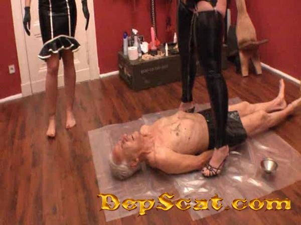 FemDom Dangeon 02 Miss Flowers, Miss Kate - Scat Humiliation, Germany [SD/253 MB]