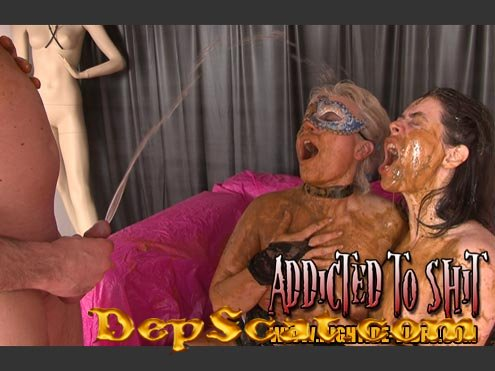 ADDICTED TO SHIT Models: Gina, Ingrid, 1 Male - Human Toilet, Humiliation [SD/1.20 GB]