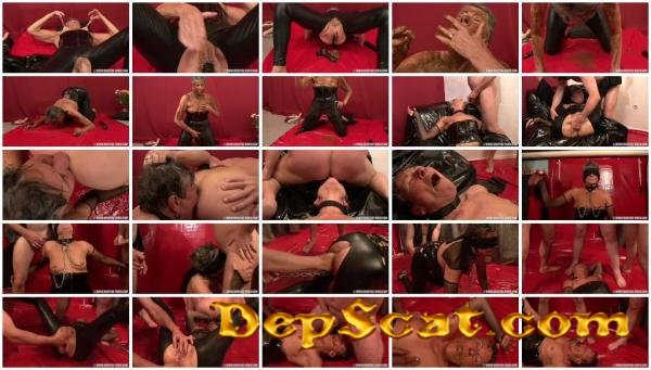 SENIOR SCAT SLAVE ANGELINA Angelina, 3 males - Scat, Humiliation, Older Women [HD 720p/880 MB]
