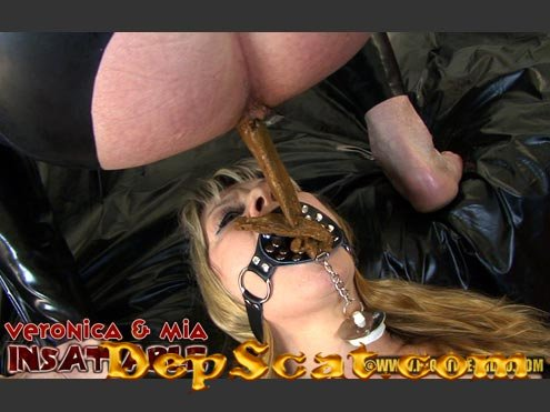 INSATIABLE Veronica Moser, Mia, 2 males - Scat, Piss, Humiliation, All Sex [HD 720p/1.72 GB]