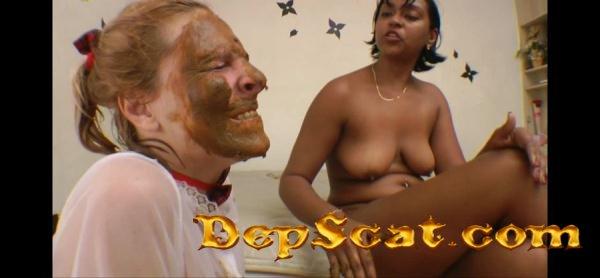 Scat Giant Rarissa Gigante, Bruninha - Lesbian Scat, Domination [HD 720p/1014 MB]