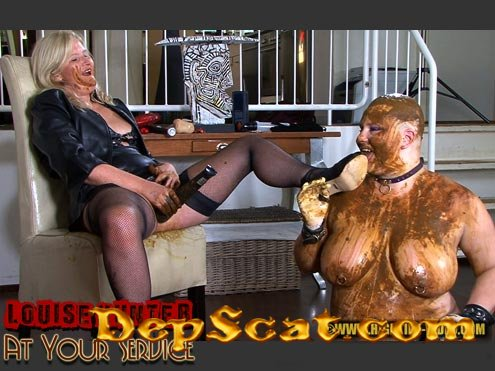 LOUISE HUNTER - AT YOUR SERVICE Louise Hunter, Marlen - Lesbian, Femdom [HD 720p/597 MB]