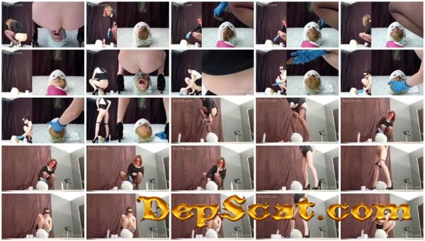 2 mega big heaps of shit from princesses Smelly Milana - Femdom, Toilet Slavery [FullHD 1080p/1.94 GB]