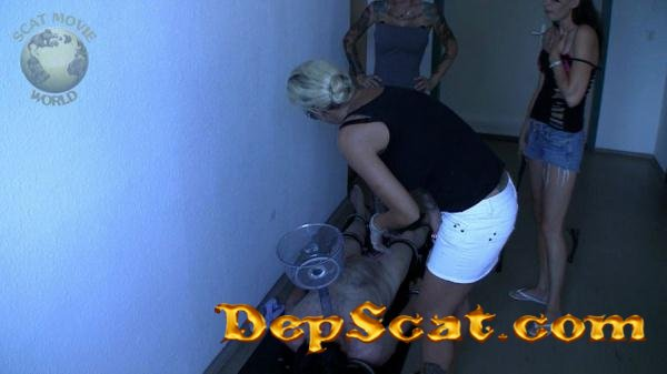 Force feeding Lady Chantal, Miss Jane, Miss Jordan Star - Spitting, Femdom [HD 720p/484 MB]