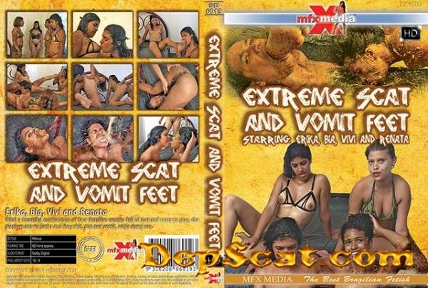 [SD-6019] Extreme Shit and Vomit Foot Erika, Bia, Vivi, Renata - Domination, Brazil [HDRip/1.29 GB]