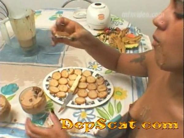 Scat Shake (Swallow) Latifa, Hannah - Lesbian, Scat [DVDRip/700 MB]