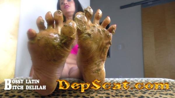 "Scat Queen Delilah – Pretty ""SHITTY"" thing Bossy Latin, Bitch Delilah - Mature, Foot [HD 720p/433 MB]"