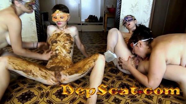Dirty lesbian show from three girls ModelNatalya94 - Scatology, Group [FullHD 1080p/1.40 GB]