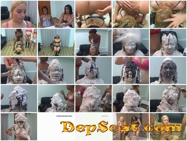 For That, you get the Works! Jade, Darla, Leslie, Latifa - Humiliation, Lesbians [SD/699 MB]