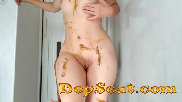 Sexy pooping on dildo playing and smearing NastyGirl - Scat, Solo, Amateur [HD 720p/905 MB]