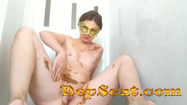 Pooping in sexy lace pants and smearing NastyGirl - Amateur, Solo [HD 720p/773 MB]