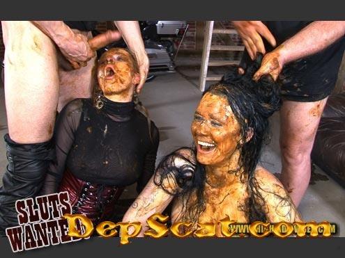 SLUTS WANTED! Betty, Julia, Molly, Sexy, 3 males - Sex Scat, Blowjob, Gang Bang [HD 720p/1.60 GB]