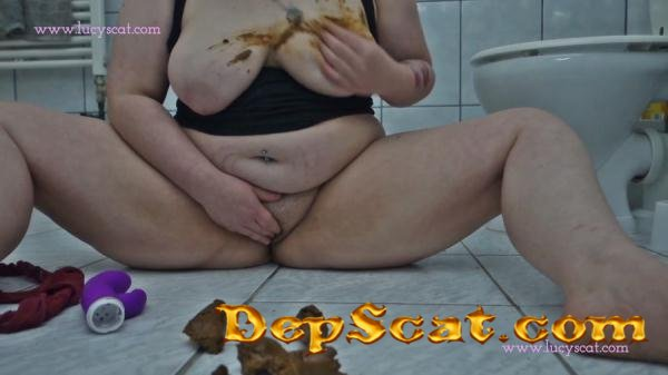 I suck and fuck a shit-dildo LucyScat - Solo, Big Tits [FullHD 1080p/319 MB]