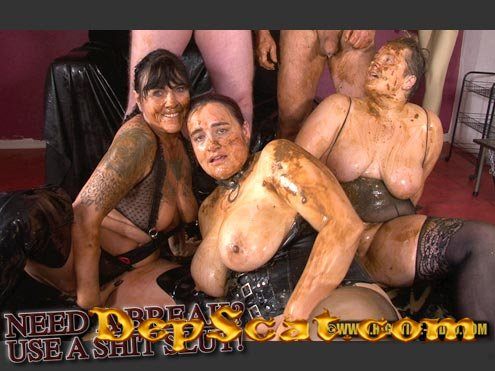 NEED A BREAK? USE A SHITSLUT! Stella, Daria, Penelope, 2 males - Humiliation, BBW [SD 720p/542 MB]