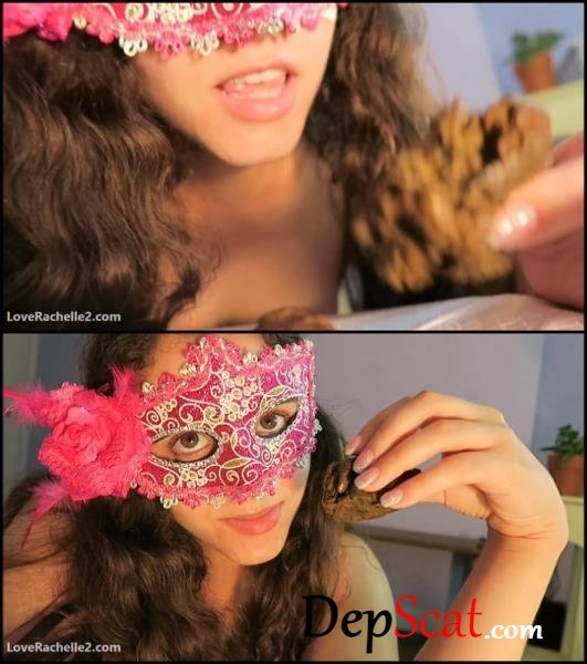 Girl in mask licks, sucks and eats shit. - Eat feces, Licking feces [FullHD 1080p/301 MB]