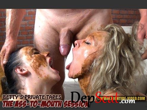 BETTY PRIVATE - THE ASS-TO-MOUTH SESSION Betty, Desiree, 1 male - Sex Scat, Blowjob, Amateur [HD 720p/1.27 GB]