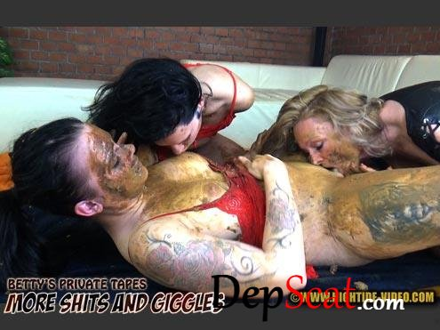 BETTY PRIVATE - MORE SHITS AND GIGGLES etty, Desiree, Eliza - Sex Scat, Group, Domination [HD 720p/1.10 GB]