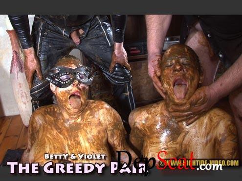 THE GREEDY PAIR Betty, Violet, 3 males - Sex Scat, Blowjob [HD 720p/1.16 GB]