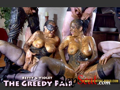 THE GREEDY PAIR Betty, Violet, 3 males - Sex Scat, Blowjob [HD 720p/1.16 GB]