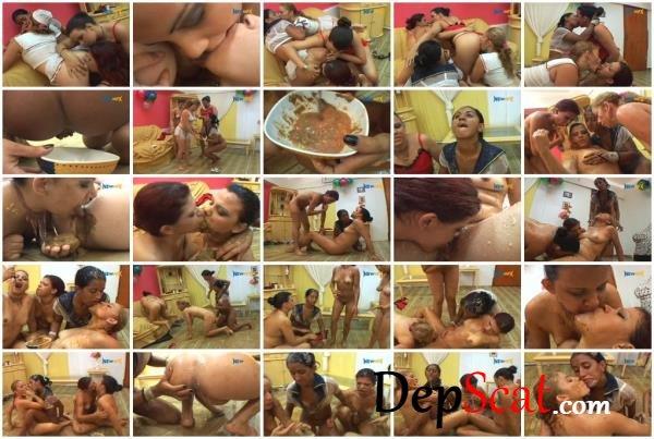 Chocolate Cake Latifa, Iohana Alvez, Diana, Karla - Lesbian, Only Girls [SD/923 MB]