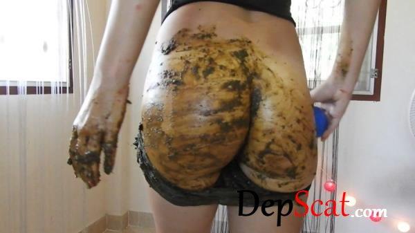 Queefing, Creamy Shit, Filthy Enema In Nylon Smear MissAnja - Solo, Poop Videos [FullHD 1080p/1.31 GB]