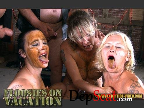 BETTY & FRIENDS - FLOOSIES ON VACATION Betty, Sexy, Marlen, 2 males - Scat, Humiliation [HD 720p/733 MB]
