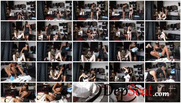 Female slave shitting in diaper Mistress Gaia - Femdom, Scat [FullHD 1080p/463 MB]