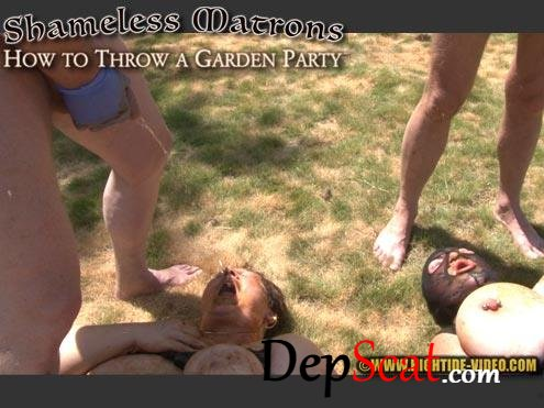 SHAMELESS MATRONS - HOW TO THROW A GARDEN PARTY Marilou, Linda, 2 males - Toilet Slavery, BBW [HD 720p/1.32 GB]