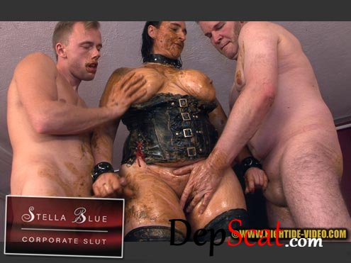 STELLA BLUE, CORPORATE SLUT Stella, 3 males - Domination, Group, Sex [HD 720p/594 MB]