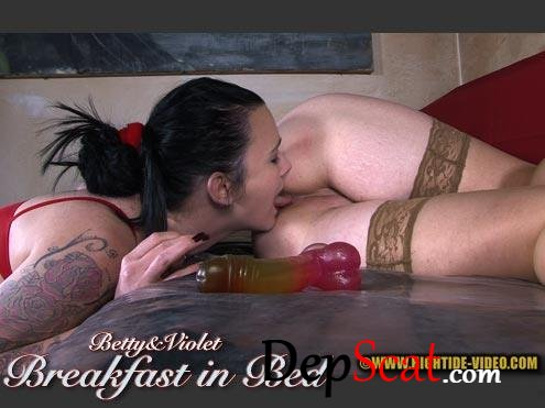 BETTY & VIOLET - BREAKFAST IN BED Betty, Violet - Lesbians, Defecation [HD 720p/687 MB]