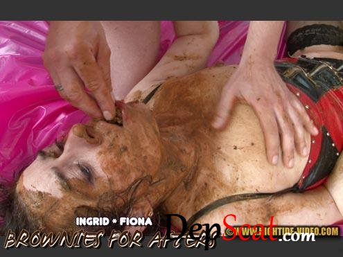 BROWNIES FOR AFTERS Ingrid, Fiona, 1 male - Defecation, Domination [SD/733 MB]