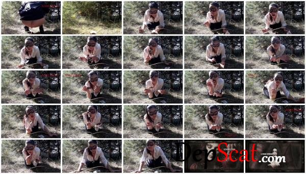 In the woods fetish ScatLina - Solo, Outdoor [FullHD 1080p/678 MB]