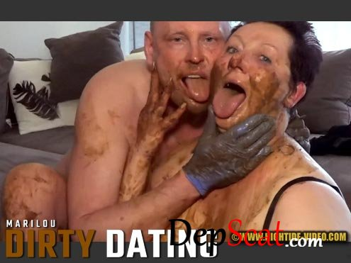 DIRTY DATING Marilou, 1 male - Milf, Blowjob, Shit [HD 720p/972 MB]