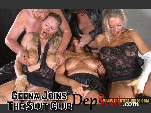 GEENA JOINS THE SLUT CLUB Geena, Molly, Sexy, 2 males - Defecation, Extreme, Piss [HD 720p/594 MB]