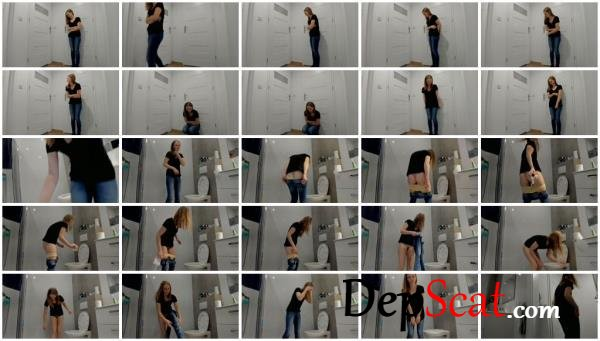 Desperation under the bathroom and poop LucyBelle - Extreme, Solo [UltraHD 2K/1.83 GB]