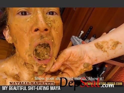 NK01 - MY BEAUTIFUL SHIT-EATING MAYA Natalia Kapretti, Maya - Teen, Milf, Domination [HD 720p/711 MB]